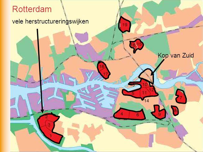 Rotterdam vele herstructureringswijken Kop van Zuid