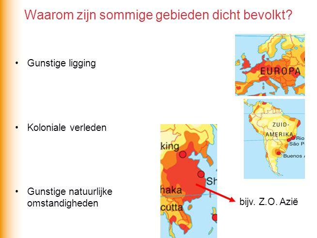 Waarom zijn sommige gebieden dicht bevolkt