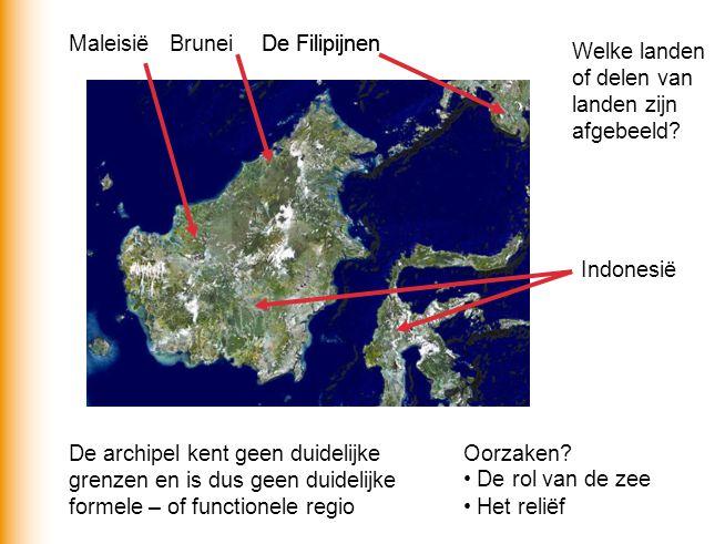 Maleisië Brunei. De Filipijnen. De Filipijnen. Welke landen of delen van landen zijn afgebeeld Indonesië.