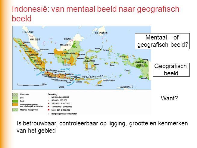 Indonesië: van mentaal beeld naar geografisch beeld