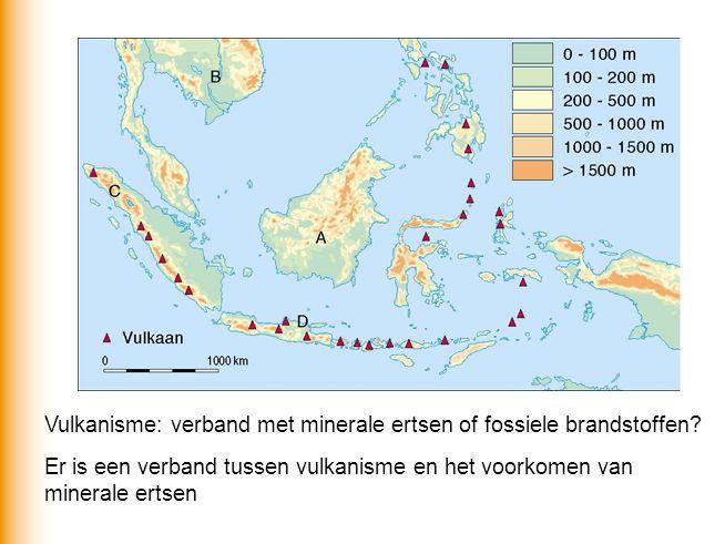 Vulkanisme: verband met minerale ertsen of fossiele brandstoffen