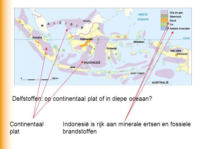 Delfstoffen: op continentaal plat of in diepe oceaan