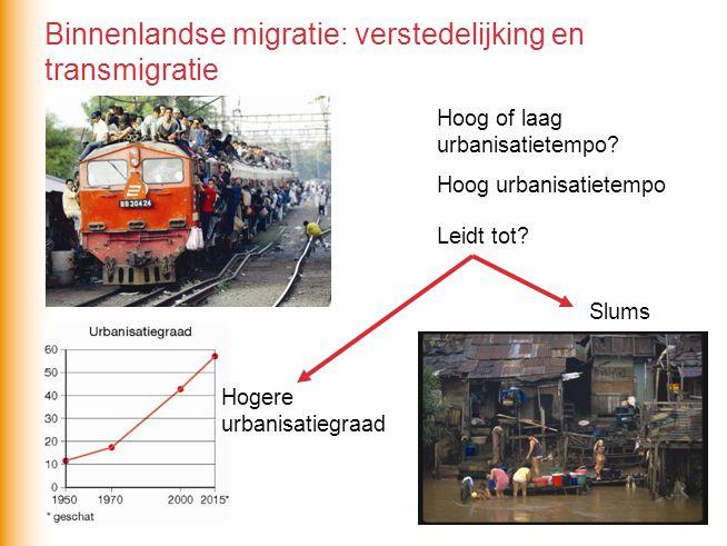 Binnenlandse migratie: verstedelijking en transmigratie