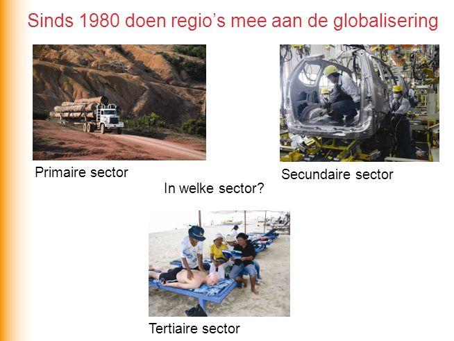 Sinds 1980 doen regio's mee aan de globalisering