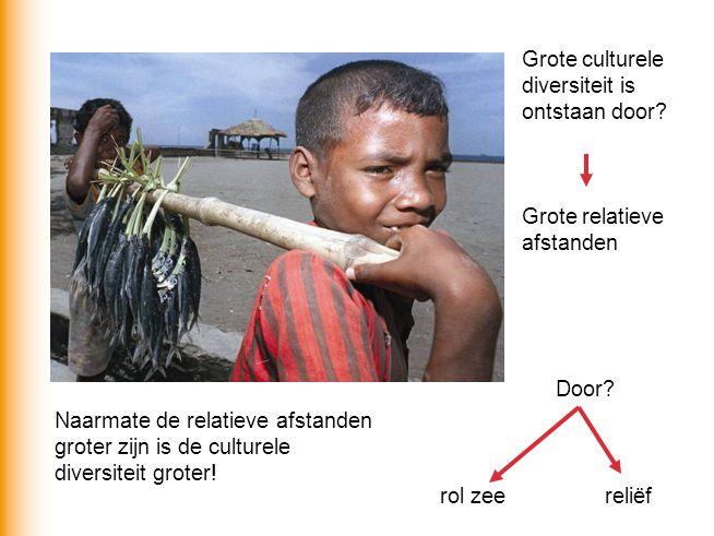 Grote culturele diversiteit is ontstaan door