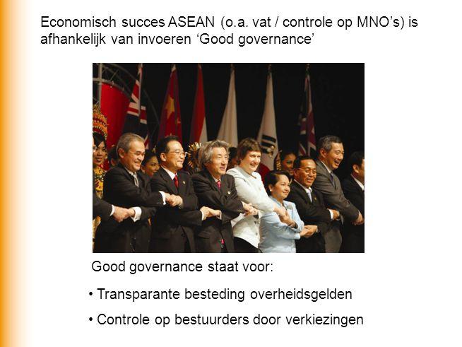 Economisch succes ASEAN (o. a