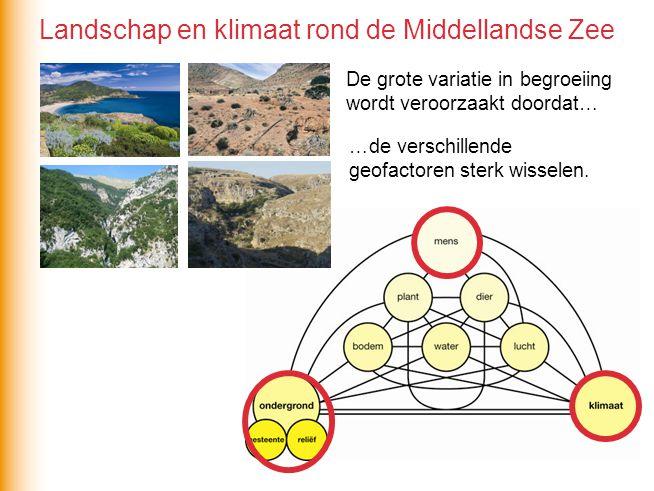 Landschap en klimaat rond de Middellandse Zee