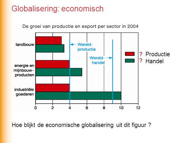Hoe blijkt de economische globalisering uit dit figuur