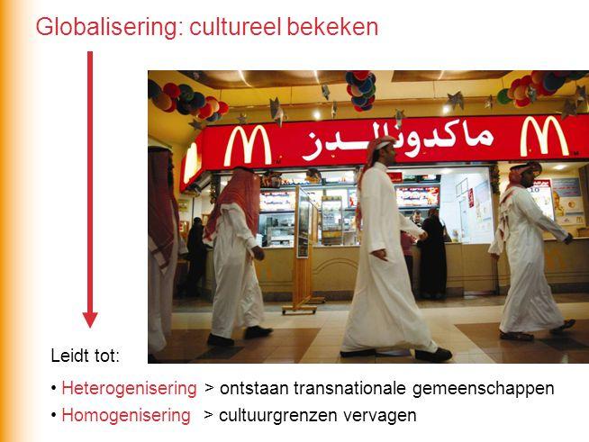 Globalisering: cultureel bekeken