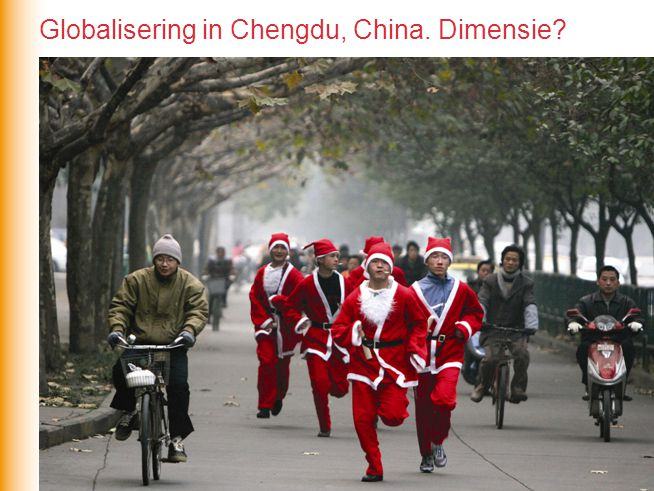 Globalisering in Chengdu, China. Dimensie