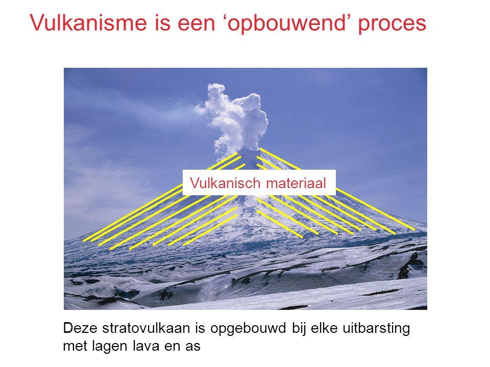 Vulkanisme is een 'opbouwend' proces