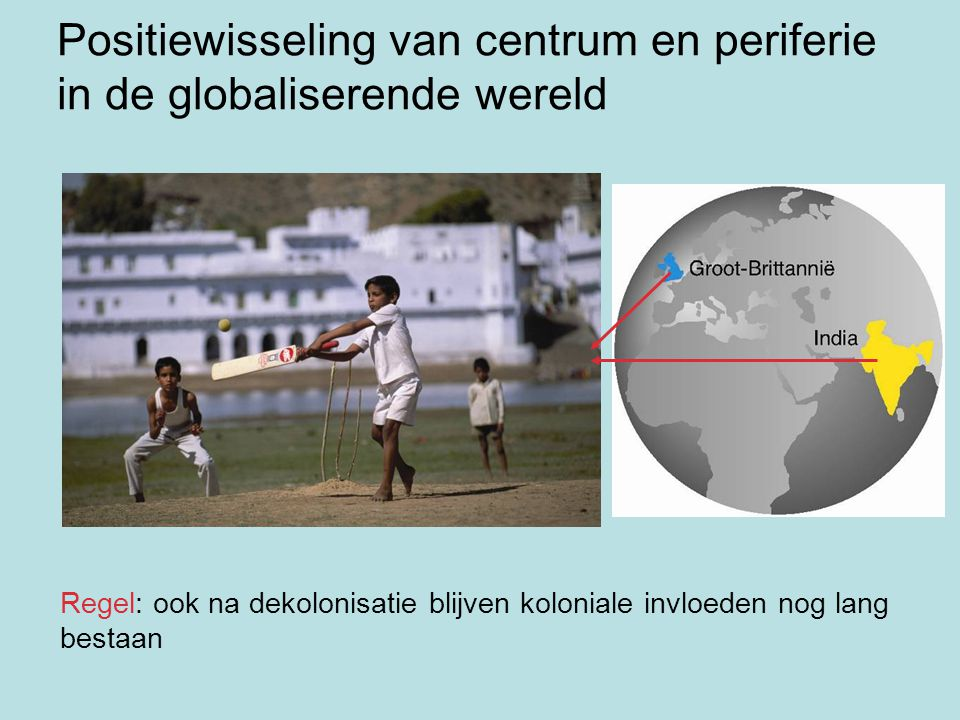 Positiewisseling van centrum en periferie in de globaliserende wereld