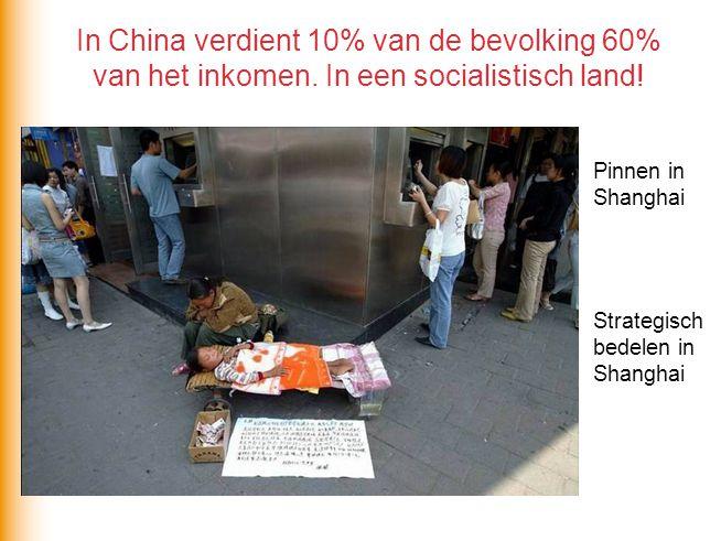 In China verdient 10% van de bevolking 60% van het inkomen