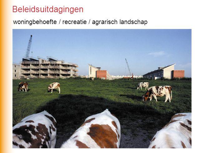 Beleidsuitdagingen woningbehoefte / recreatie / agrarisch landschap