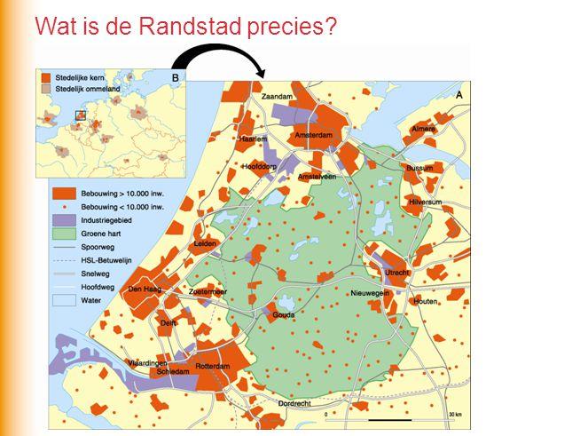 Wat is de Randstad precies