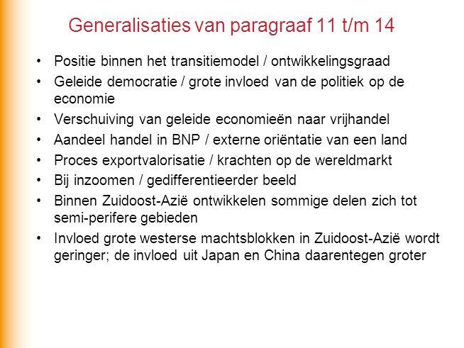 Generalisaties van paragraaf 11 t/m 14