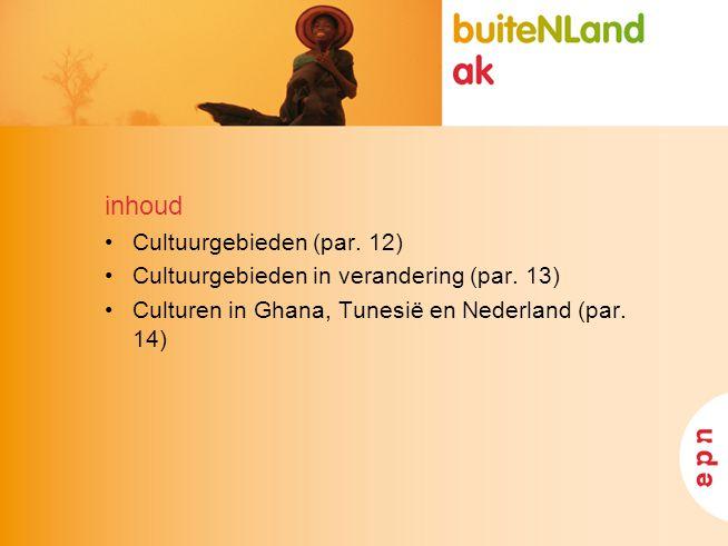 inhoud Cultuurgebieden (par. 12)