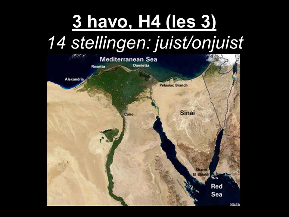 3 havo, H4 (les 3) 14 stellingen: juist/onjuist