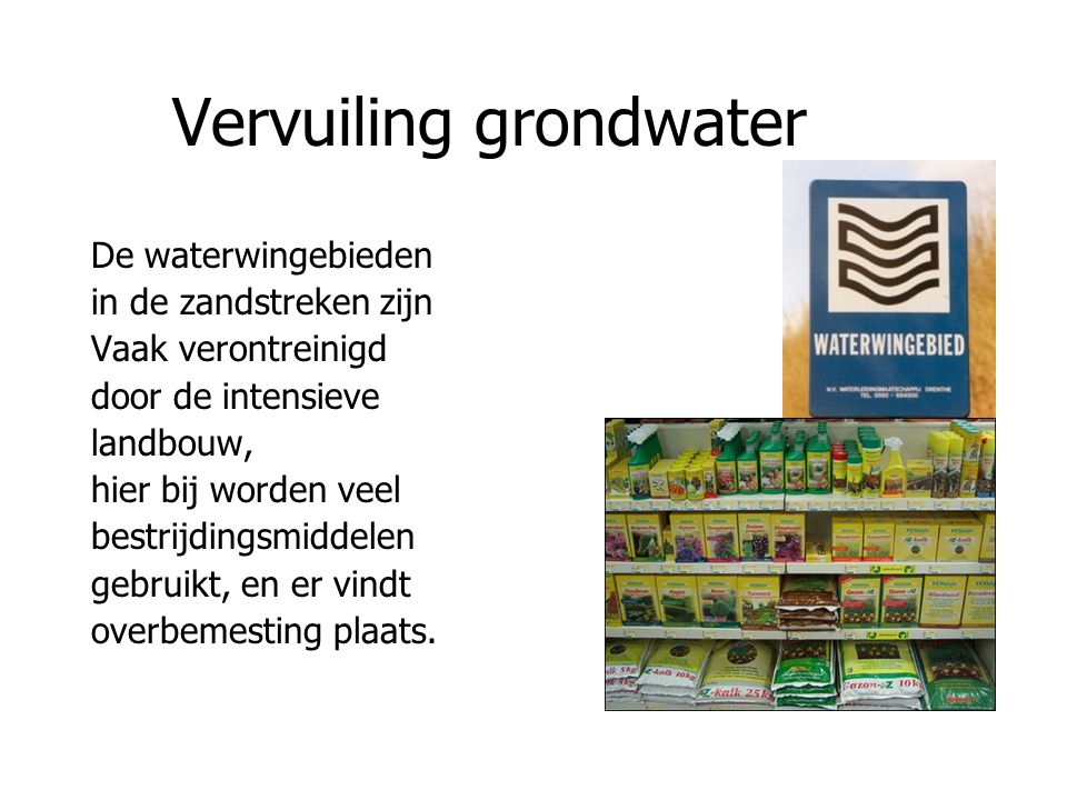 Vervuiling grondwater