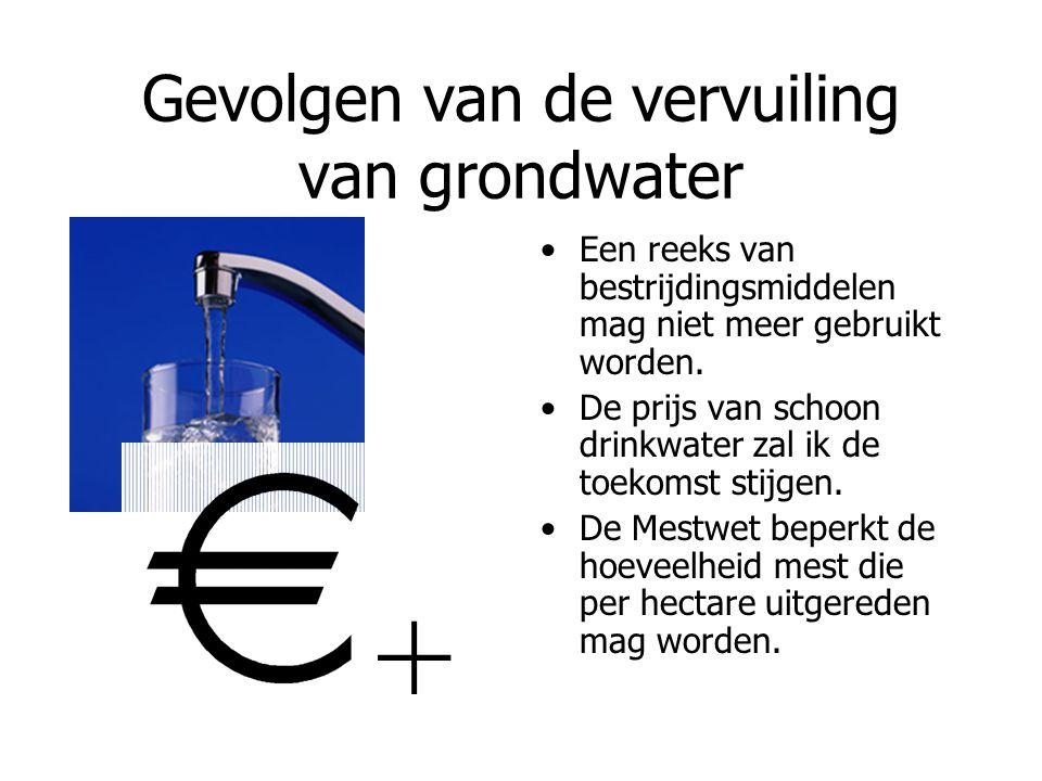 Gevolgen van de vervuiling van grondwater
