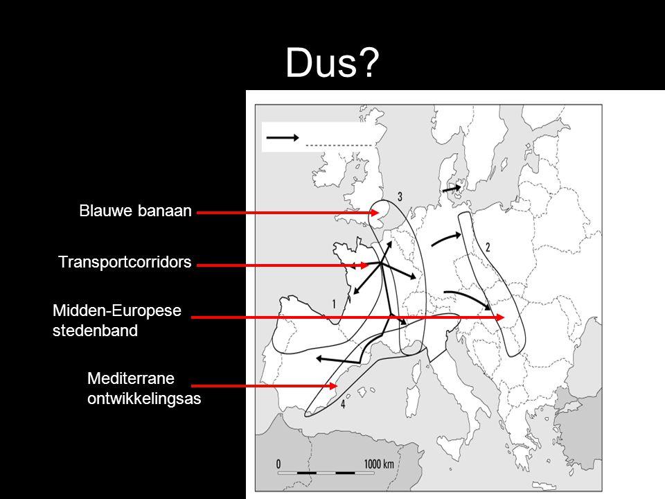 Dus Blauwe banaan Transportcorridors Midden-Europese stedenband