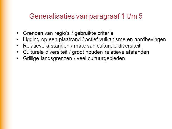 Generalisaties van paragraaf 1 t/m 5