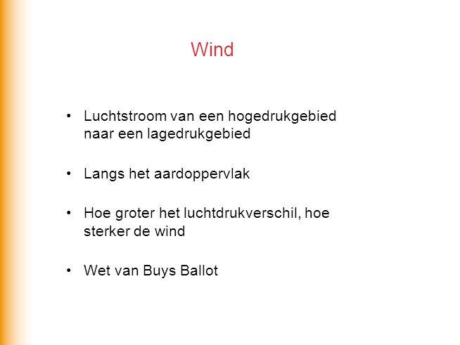 Wind Luchtstroom van een hogedrukgebied naar een lagedrukgebied