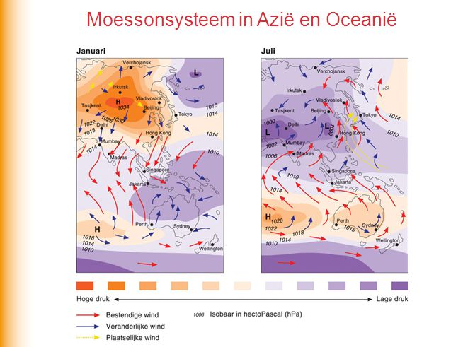Moessonsysteem in Azië en Oceanië