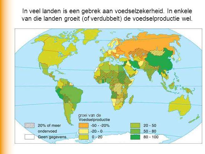 In veel landen is een gebrek aan voedselzekerheid