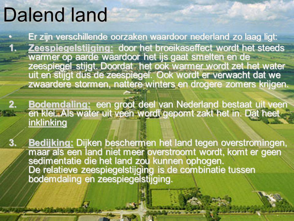 Dalend land Er zijn verschillende oorzaken waardoor nederland zo laag ligt: