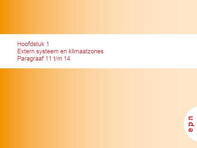 Hoofdstuk 1 Extern systeem en klimaatzones Paragraaf 11 t/m 14