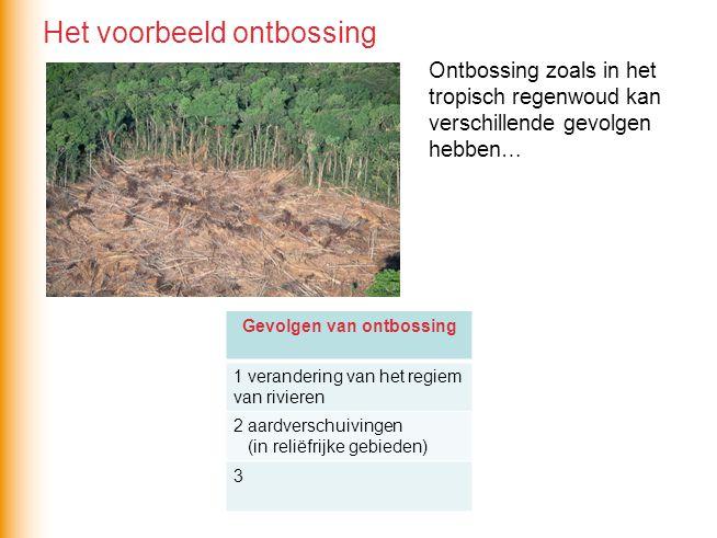 Gevolgen van ontbossing