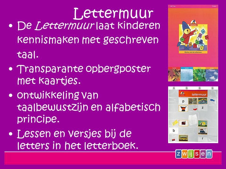 Lettermuur De Lettermuur laat kinderen kennismaken met geschreven