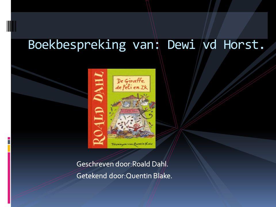 Boekbespreking van: Dewi vd Horst.