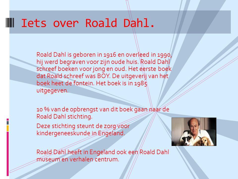 Iets over Roald Dahl.