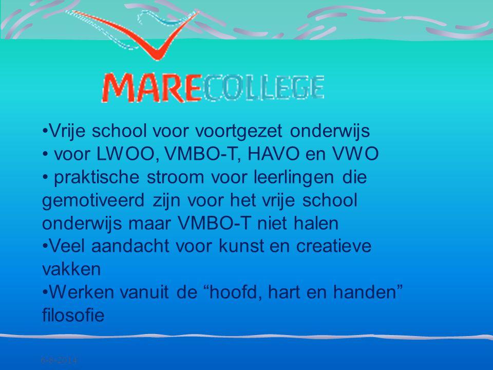 Vrije school voor voortgezet onderwijs voor LWOO, VMBO-T, HAVO en VWO