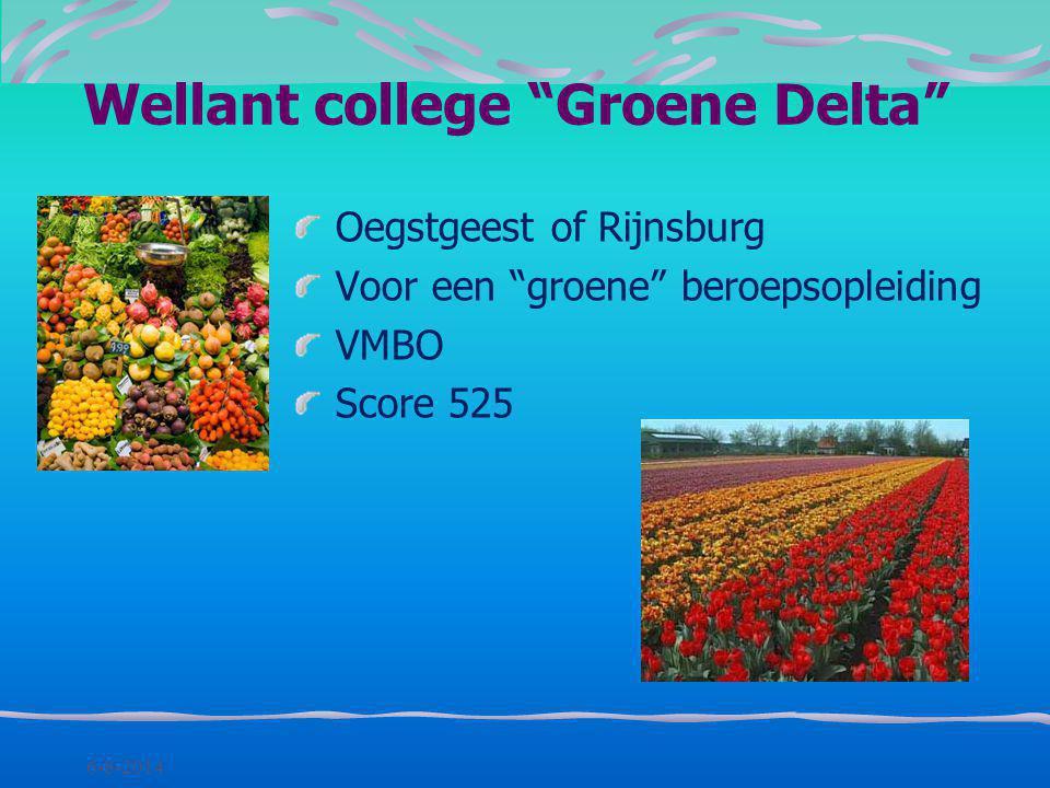 Wellant college Groene Delta