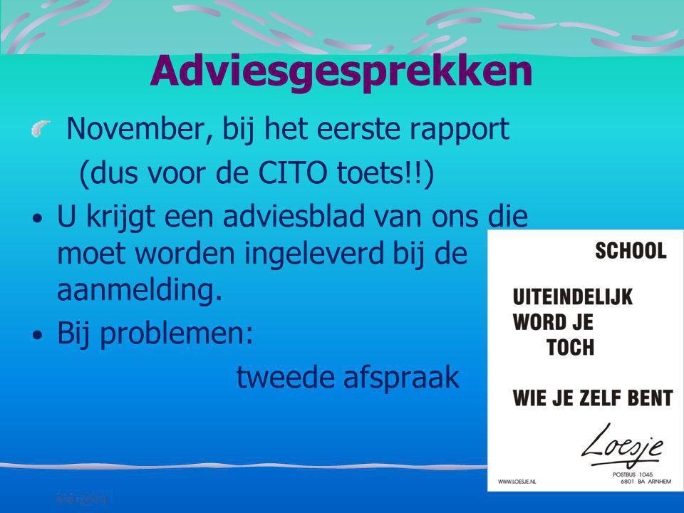 Adviesgesprekken November, bij het eerste rapport