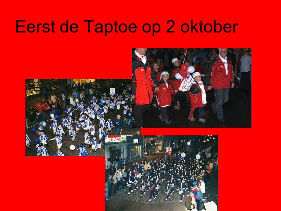 Eerst de Taptoe op 2 oktober