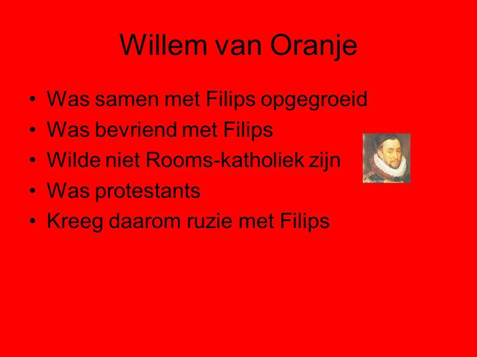 Willem van Oranje Was samen met Filips opgegroeid
