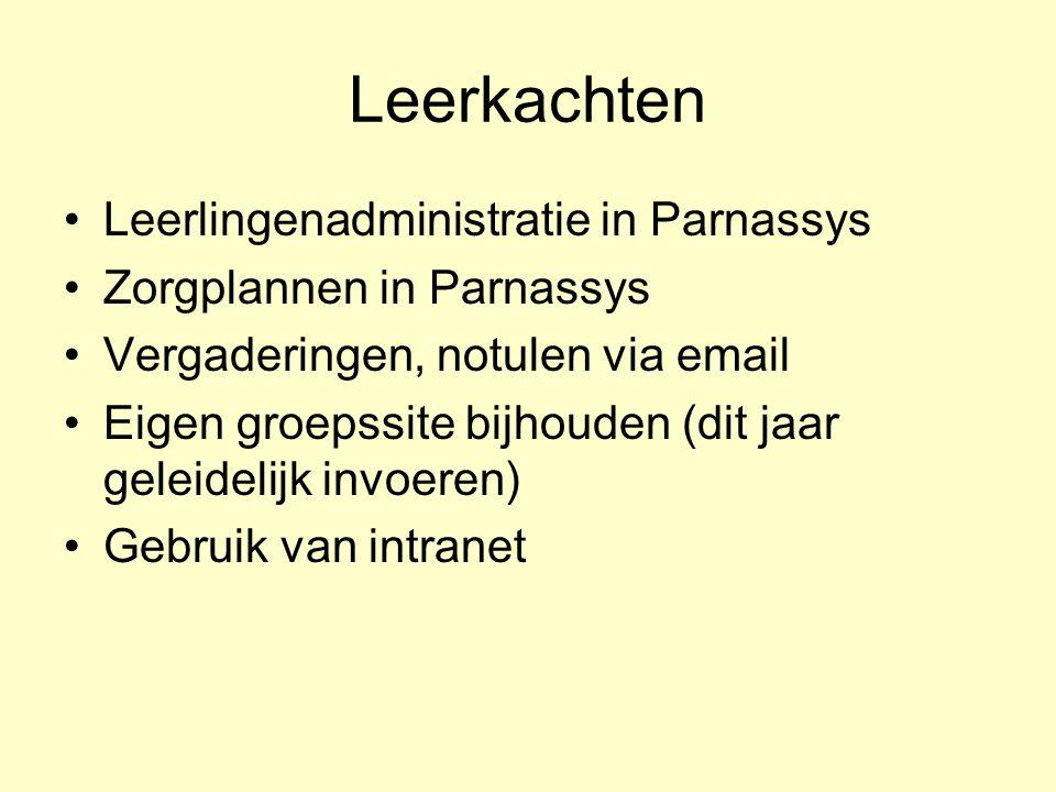 Leerkachten Leerlingenadministratie in Parnassys
