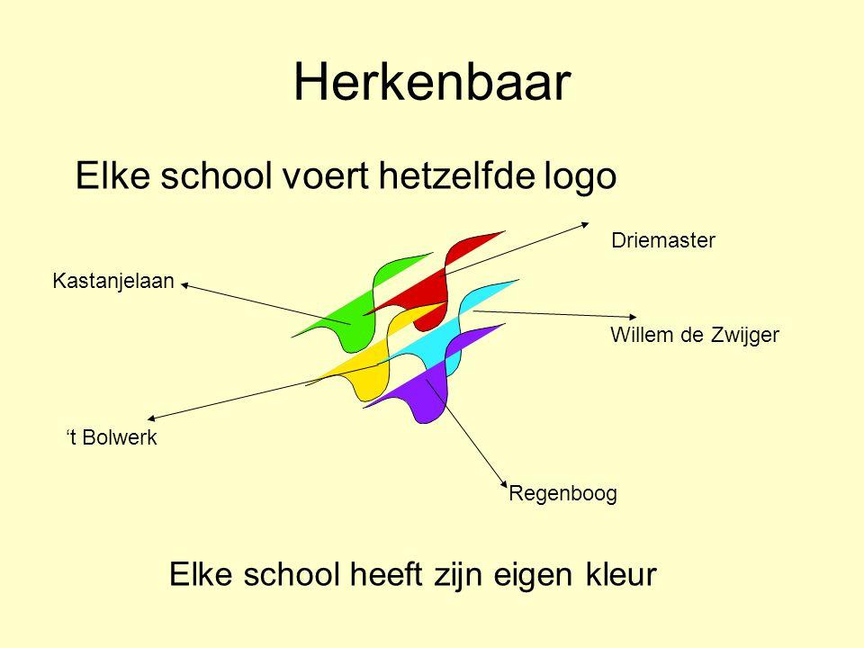 Herkenbaar Elke school voert hetzelfde logo