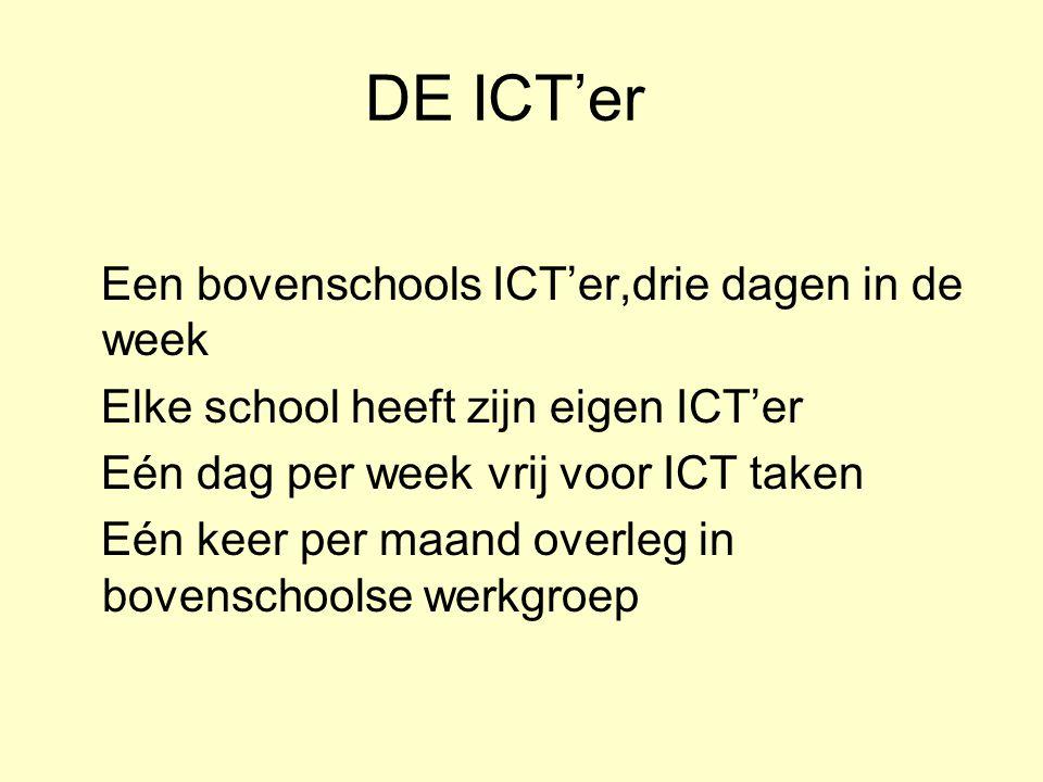 DE ICT'er Een bovenschools ICT'er,drie dagen in de week