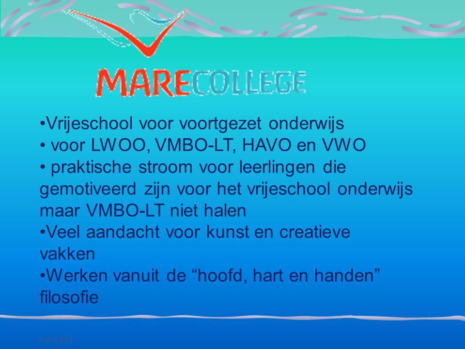 Vrijeschool voor voortgezet onderwijs voor LWOO, VMBO-LT, HAVO en VWO