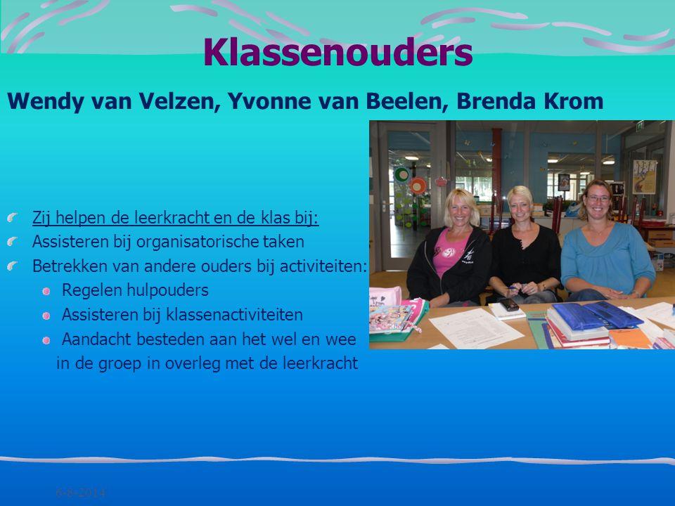 Klassenouders Wendy van Velzen, Yvonne van Beelen, Brenda Krom