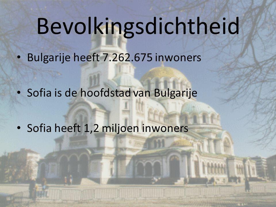 Bevolkingsdichtheid Bulgarije heeft 7.262.675 inwoners