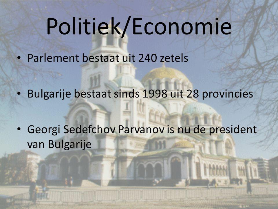 Politiek/Economie Parlement bestaat uit 240 zetels