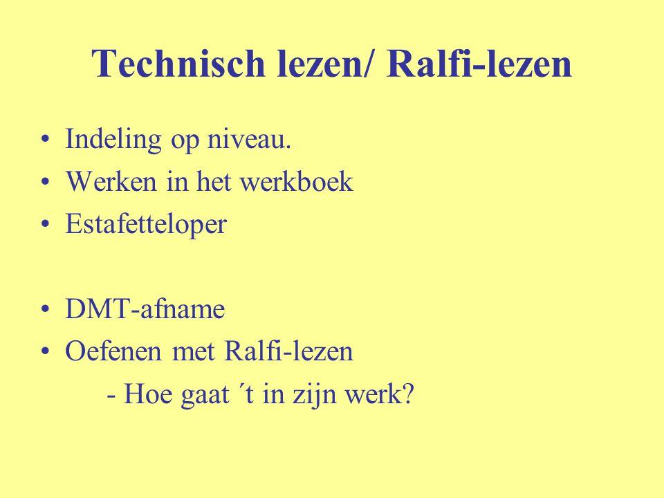 Technisch lezen/ Ralfi-lezen