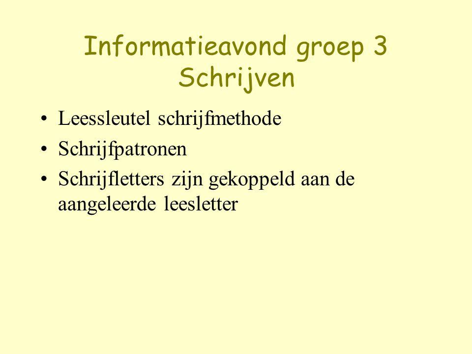 Informatieavond groep 3 Schrijven