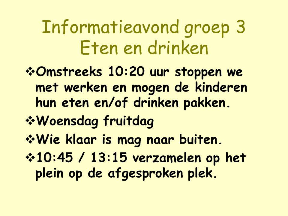 Informatieavond groep 3 Eten en drinken
